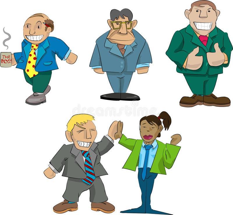 De karikaturen van het bureau vector illustratie