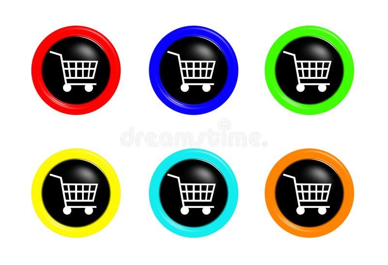 De karknopen van Shoping royalty-vrije illustratie