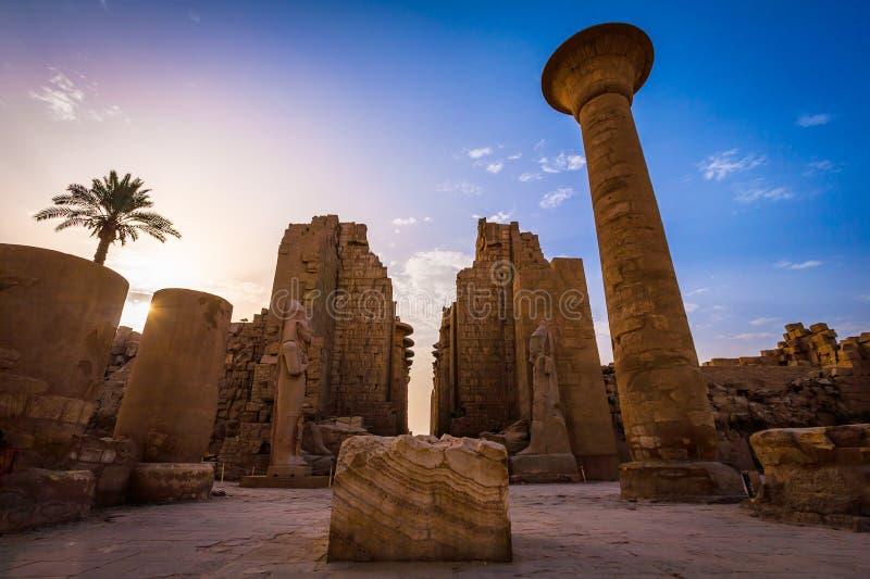 De Karnak-tempel in Luxor stock fotografie