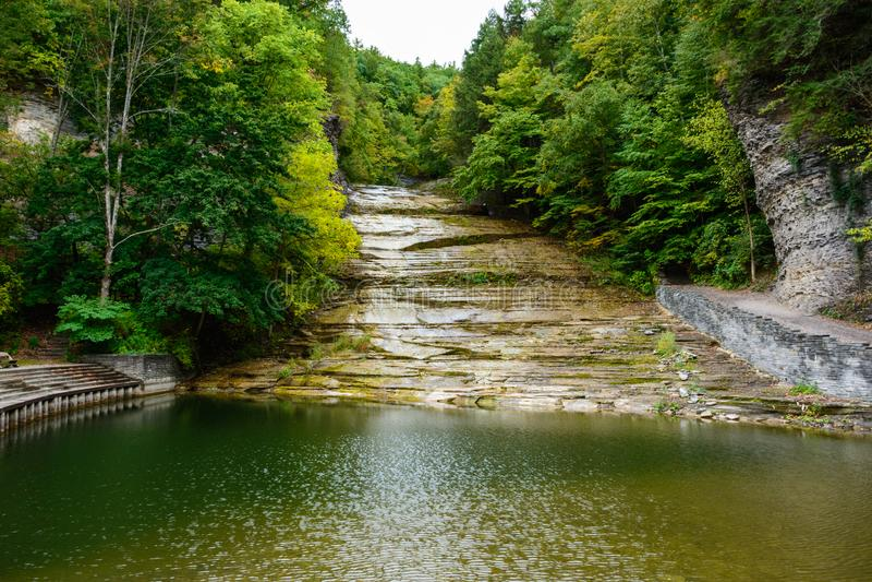 De karnemelk valt het Parkwaterval van de Staat stock afbeelding