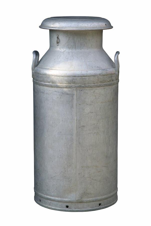 De Karnton van de melk stock afbeeldingen