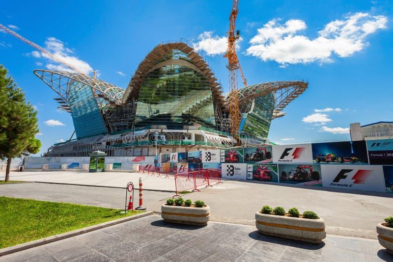De Kaspische Wandelgalerij van de Waterkant, Baku stock afbeeldingen