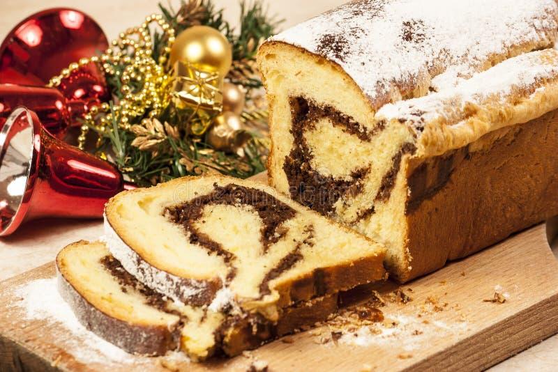 De kastanjecake van Kerstmis royalty-vrije stock afbeelding