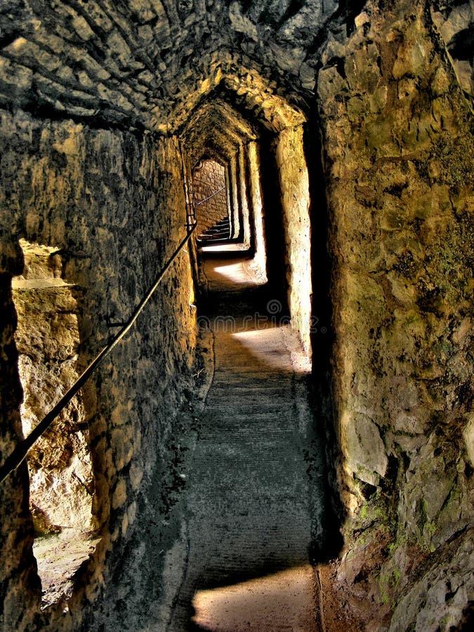 De kasteel-Gang van Cennen van Carreg royalty-vrije stock foto