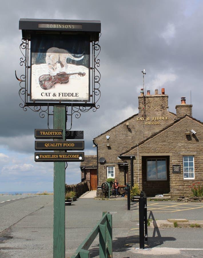 De Kat en Fiddle Pub royalty-vrije stock foto