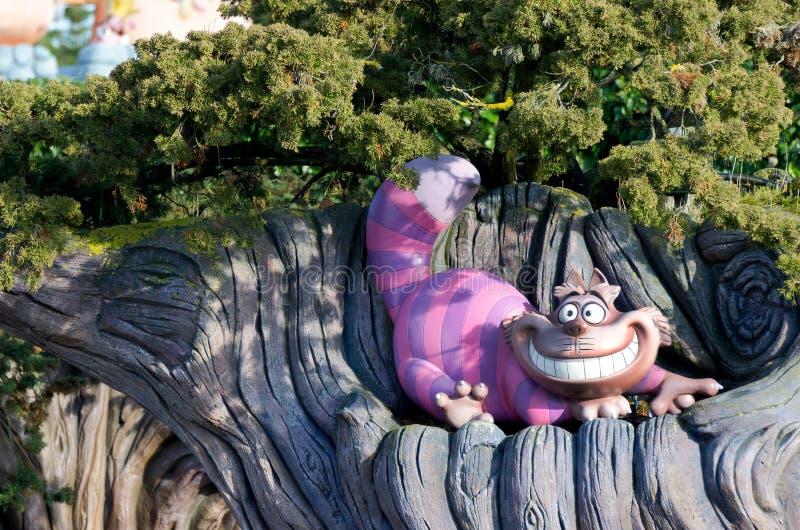 De Kat van Chesire van Disney stock foto's