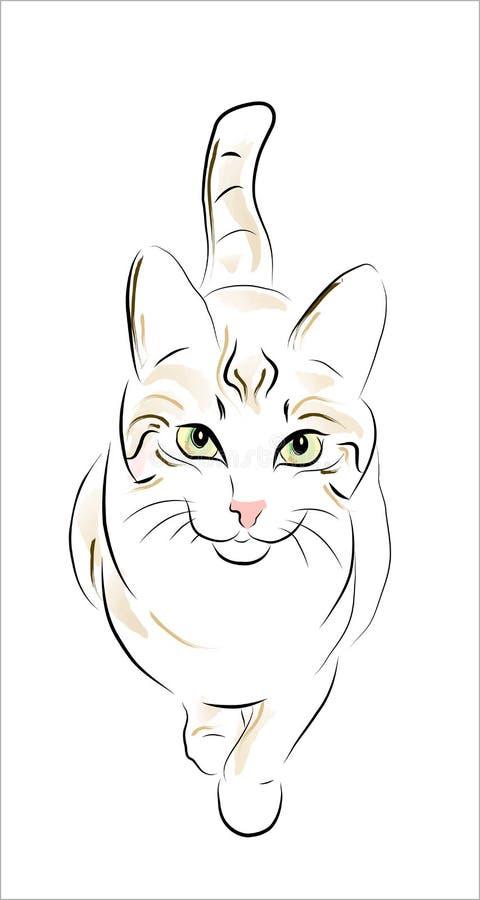 De kat van de gestreepte kat royalty-vrije illustratie