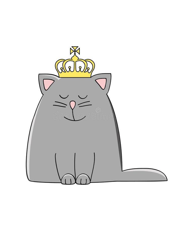 De kat van de kroon stock illustratie