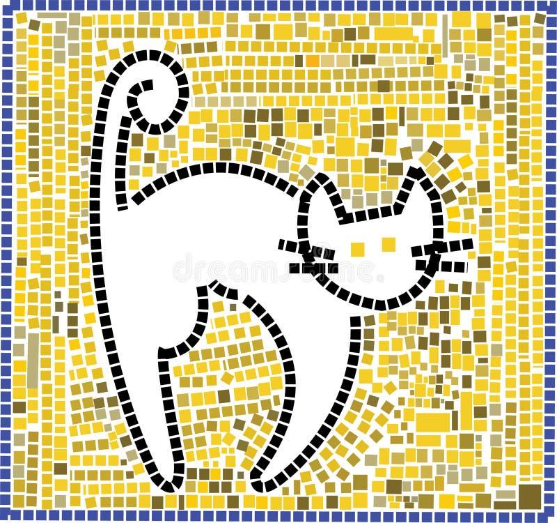 De kat van het mozaïek royalty-vrije illustratie