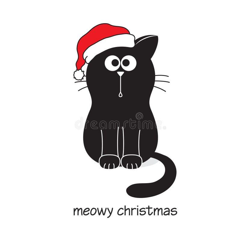 De kat van Kerstmis royalty-vrije illustratie