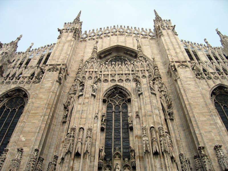 De Kathedraal â Milaan, Italië van Duomo stock afbeelding