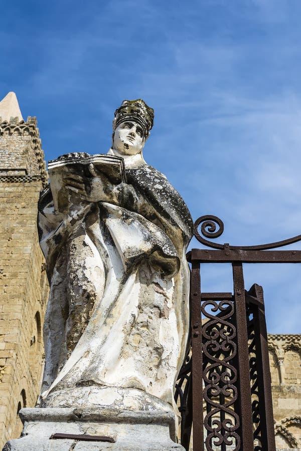 De kathedraal-Basiliek van Cefalu, Sicilië royalty-vrije stock fotografie