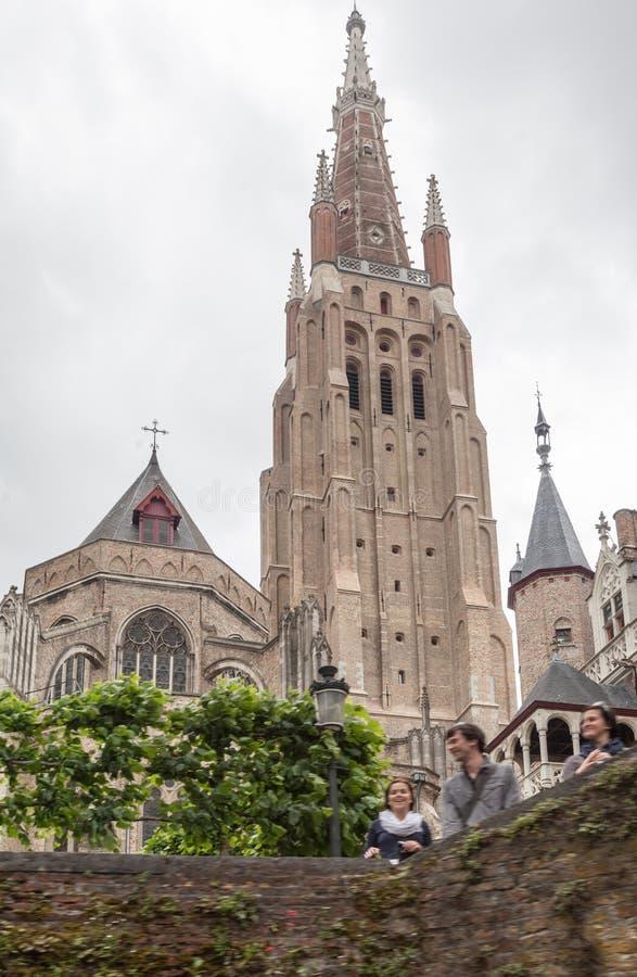 De Kathedraal België van Brugge royalty-vrije stock foto