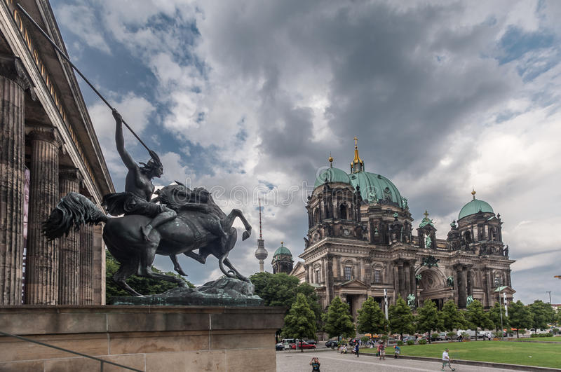 De Kathedraal Berlin Germany van het Altesmuseum stock afbeeldingen
