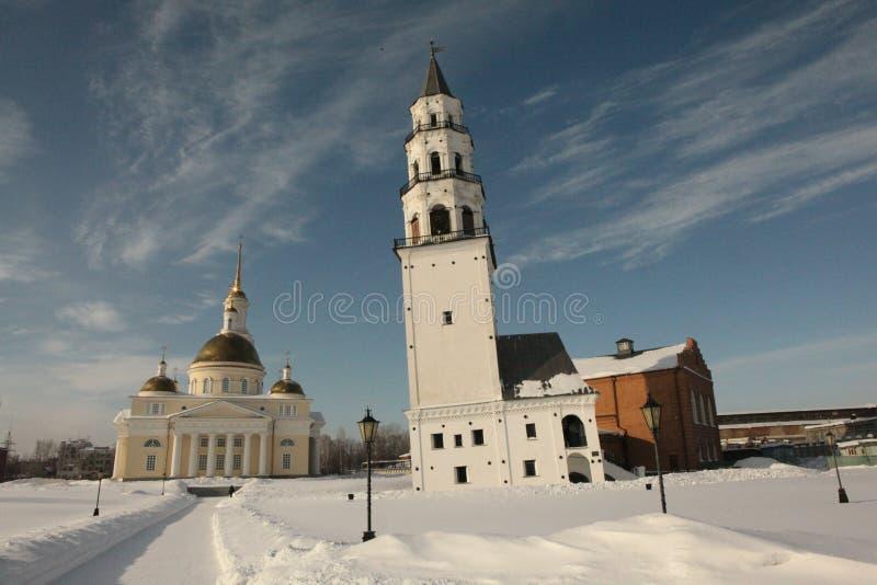 Download De Kathedraal En De Leunende Toren Nevyansk Stock Afbeelding - Afbeelding bestaande uit gebied, macht: 39103853