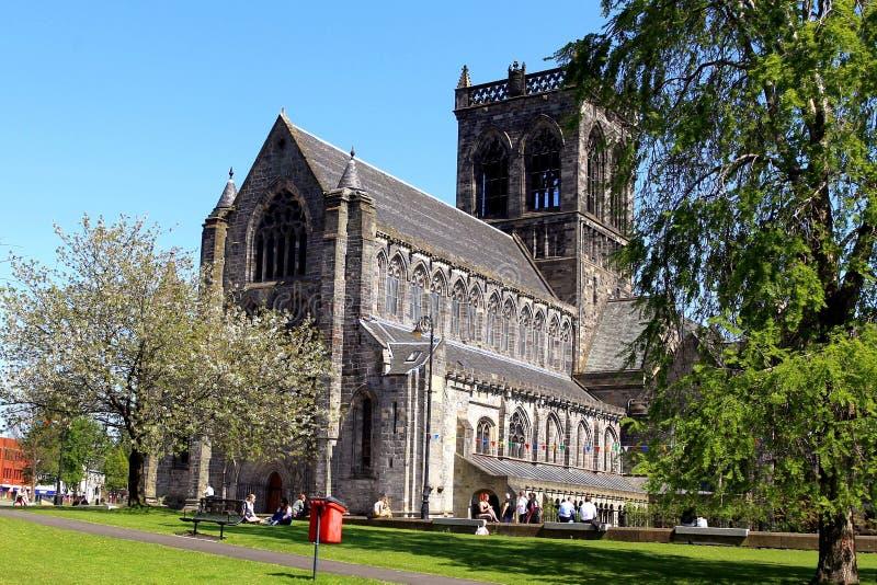 De kathedraal en klokketoren Renfrewshire Schotland van Paisley stock afbeelding