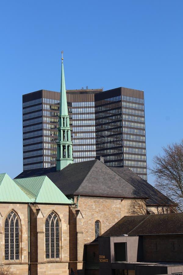 De kathedraal in Essen (Duitsland) royalty-vrije stock foto