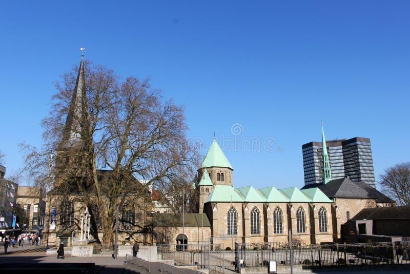 De kathedraal in Essen (Duitsland) royalty-vrije stock foto's