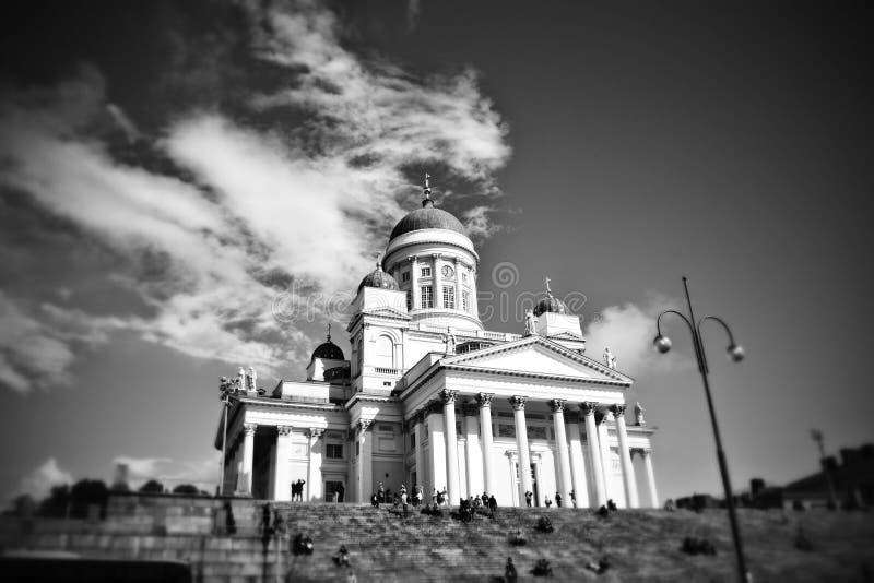 De Kathedraal Finland van Helsinki stock foto