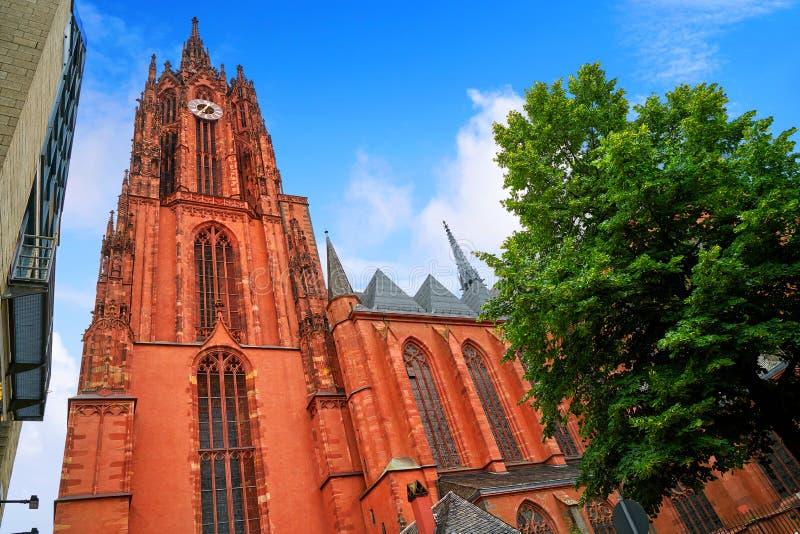 De Kathedraal Kaiserdon St Bartholomaus van Frankfurt stock foto's