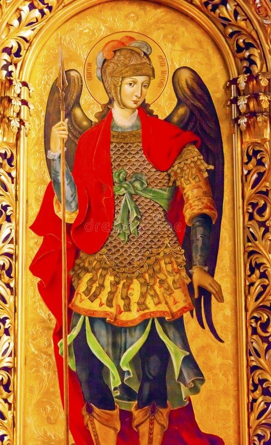 De Kathedraal Kiev de Oekraïne van heilige Michael Icon Basilica Saint Michael stock foto's