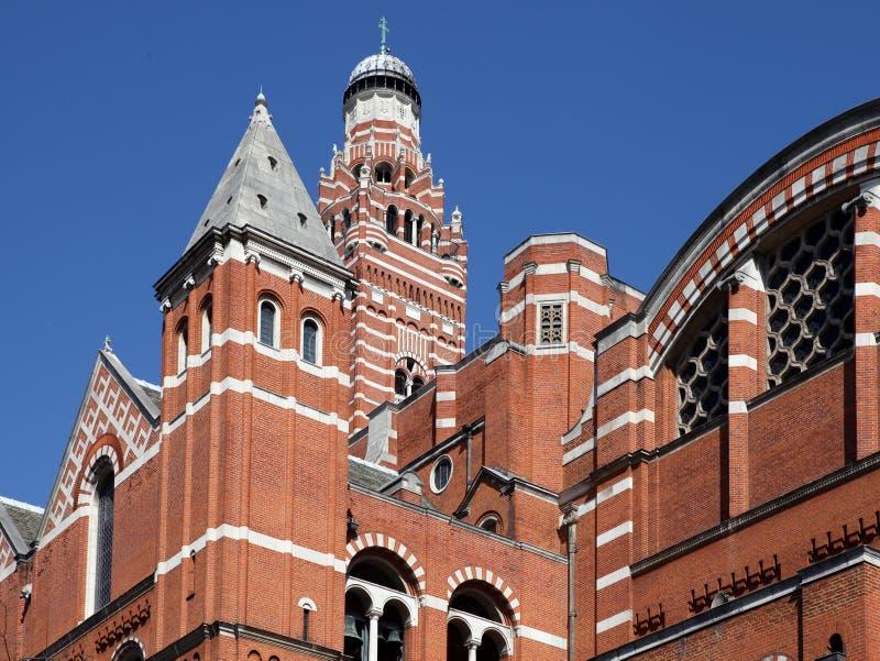 De Kathedraal Londen van Westminster stock fotografie