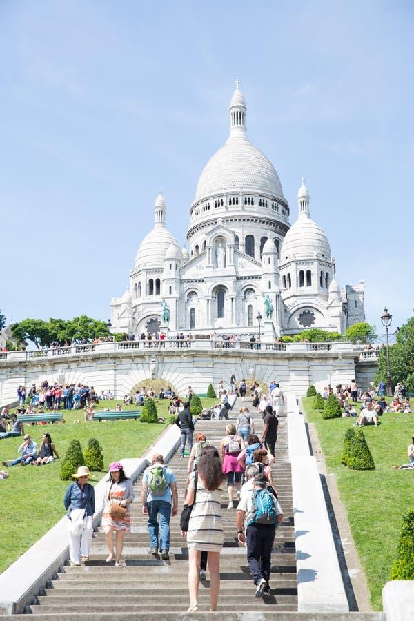 De Kathedraal Montmartre van Sacrecoeur royalty-vrije stock foto