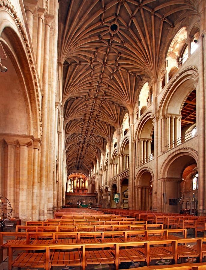 De kathedraal in Norwich stock afbeelding