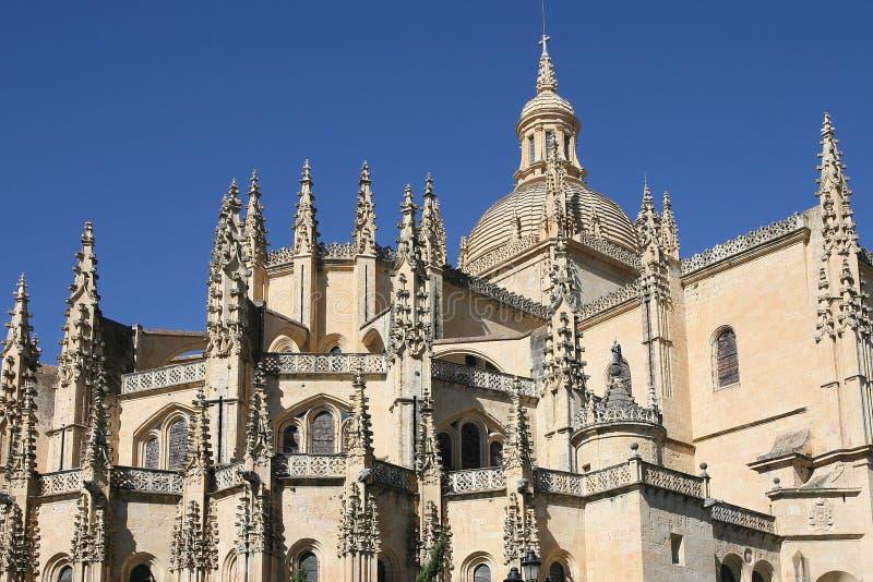 De kathedraal in Segovia royalty-vrije stock foto