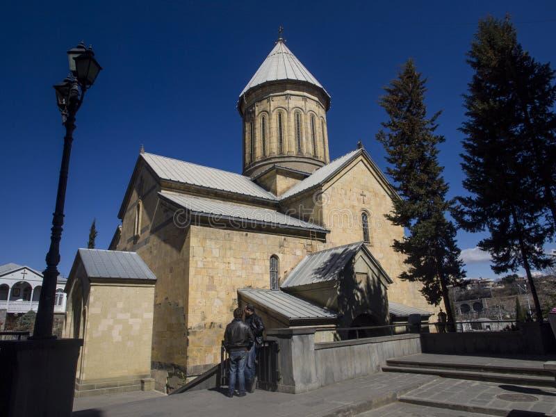 De kathedraal Sioni in Tbilisi. royalty-vrije stock fotografie