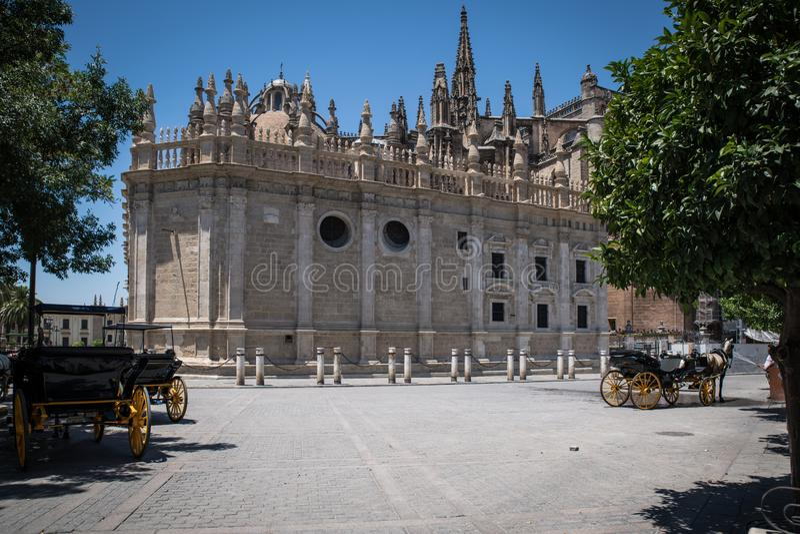 De Kathedraal Spanje van Sevilla royalty-vrije stock fotografie
