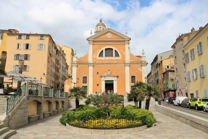 De Kathedraal van Ajaccio stock afbeelding