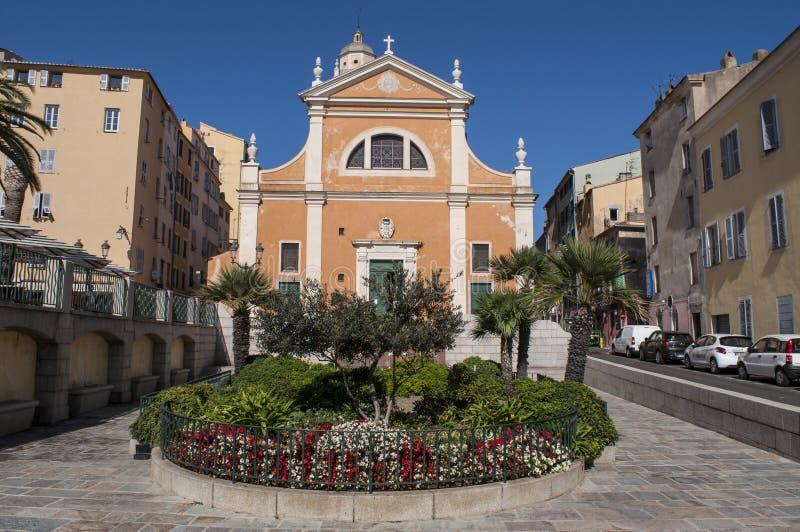 De Kathedraal van Ajaccio, Ajaccio, Corsica, Zuid-Corsica, Zuidelijk Corsica, Frankrijk, Europa royalty-vrije stock afbeeldingen