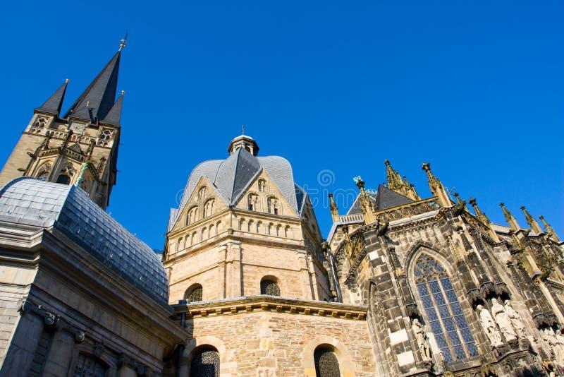 De Kathedraal van Aken stock foto's