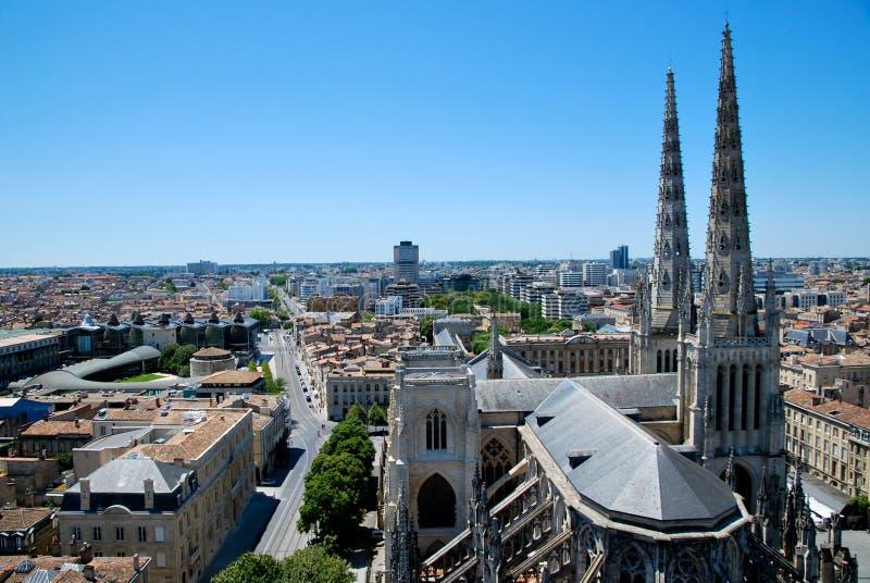 De kathedraal van Andrew in Bordeaux stock foto