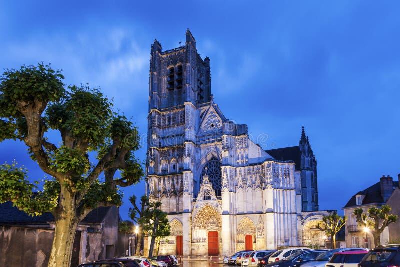 De Kathedraal van Auxerre stock foto's