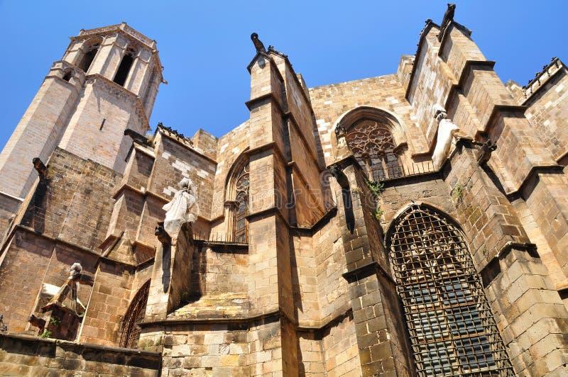 De kathedraal van Barcelona. stock afbeeldingen