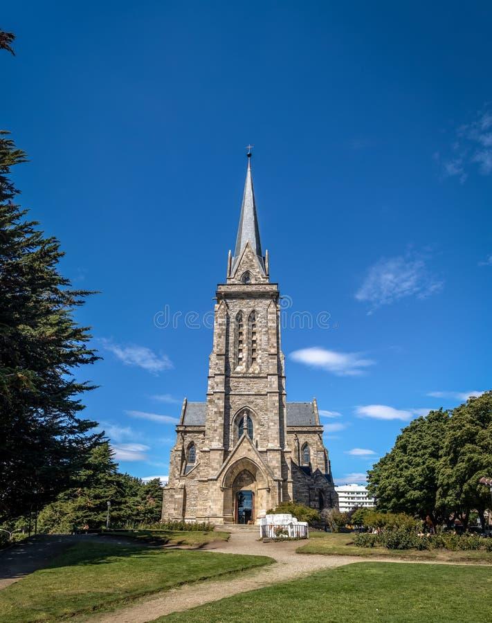 De Kathedraal van de Barilochesteen - San Carlos de Bariloche, Argentinië stock foto's