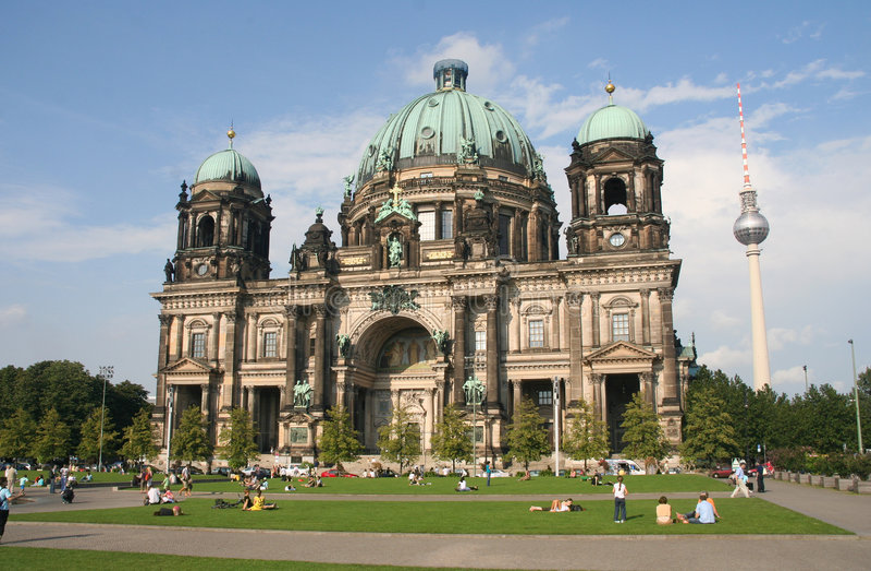 De Kathedraal van Berlijn royalty-vrije stock afbeeldingen
