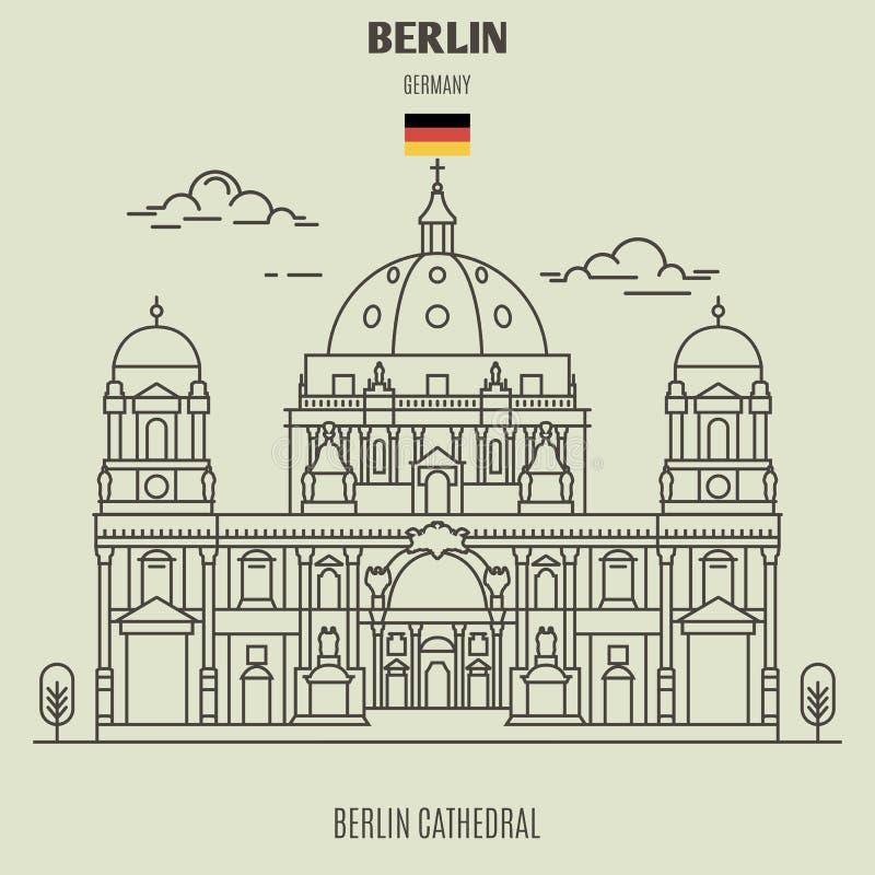 De Kathedraal van Berlijn, Duitsland Oriëntatiepuntpictogram stock illustratie