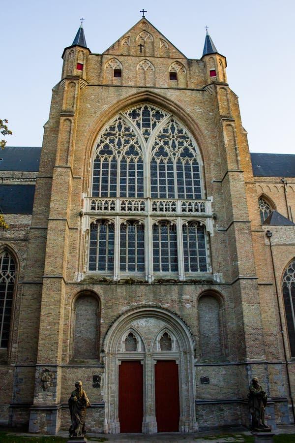De kathedraal van Brugge - sint-Salvatorskathedraal royalty-vrije stock afbeelding