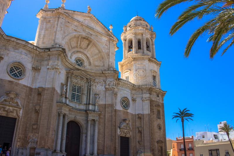 De kathedraal van Cadiz stock foto