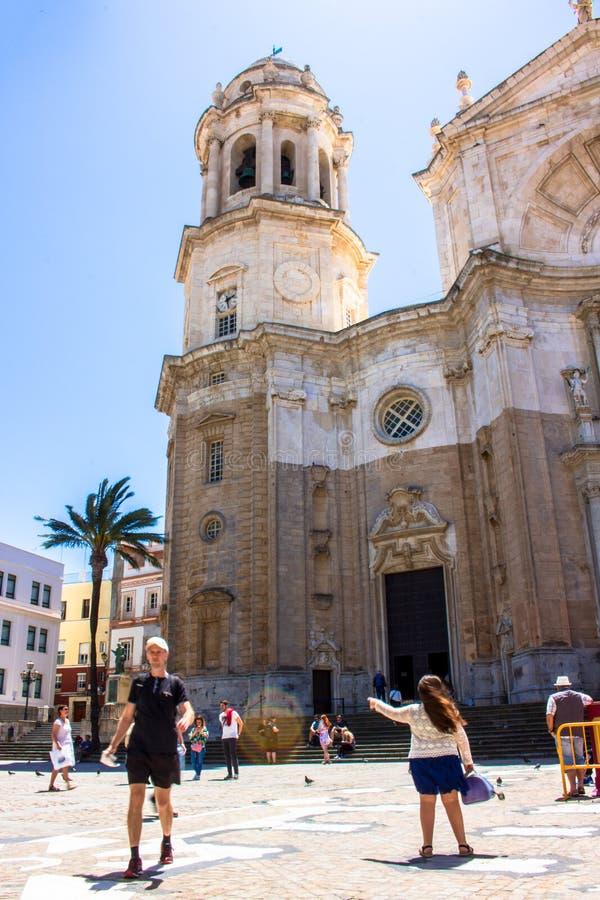 De kathedraal van Cadiz stock afbeeldingen