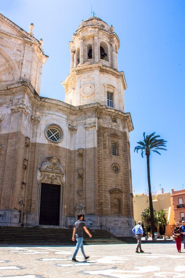 De kathedraal van Cadiz royalty-vrije stock afbeeldingen
