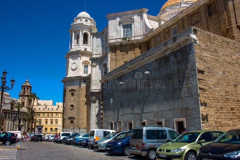 De kathedraal van Cadiz stock foto's