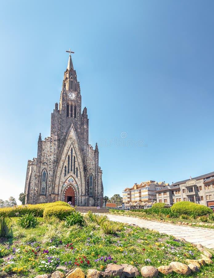 De Kathedraal van de Canelasteen - Canela, Rio Grande doet Sul, Brazilië royalty-vrije stock foto's
