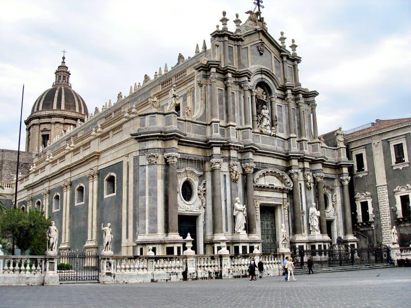 De Kathedraal van Catanië - van Heilige Agata stock fotografie