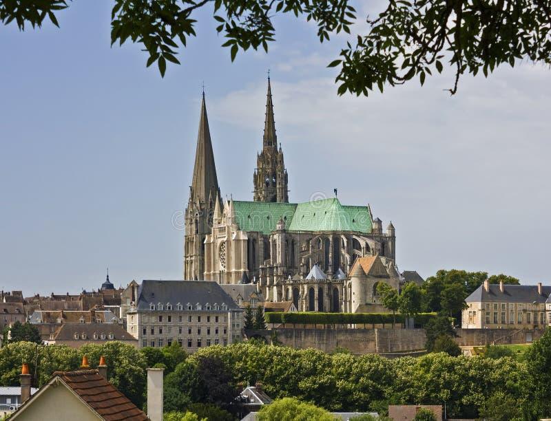 De kathedraal van Chartres stock fotografie