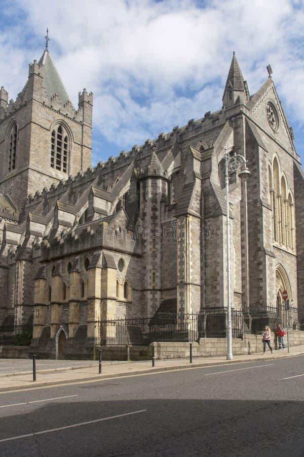 De kathedraal van Christus in Dublin stock afbeelding