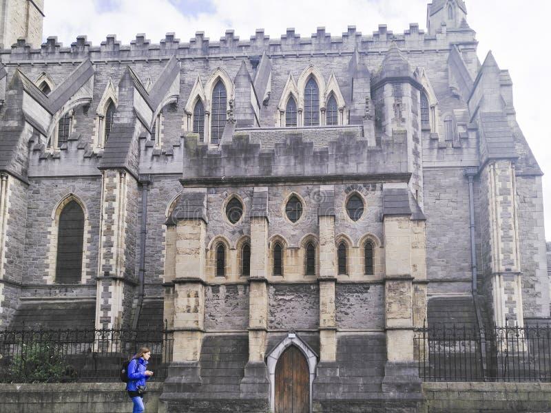 De kathedraal van Christus, Dublin, republiek van Ierland, architectuur, godsdienst, reis, toerist stock fotografie